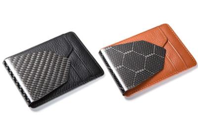 M3 Wallet: Carbon Fiber Money Clip And Leather Wallet