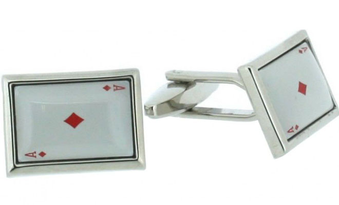 Ace of Diamonds Enamelled Cufflinks