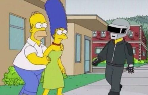 Daft Punk Appear In The Simpsons
