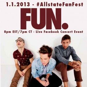 See FUN. Perform LIVE at the #AllstateFanFest
