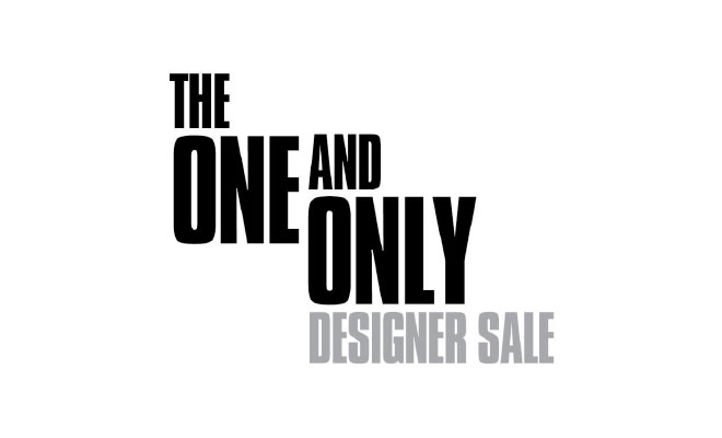 The one and only designer sale