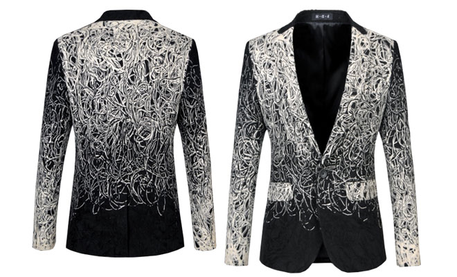 embroidered blazer