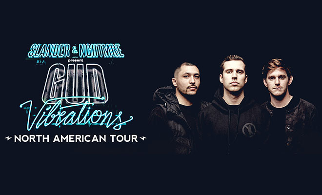 "Slander & NGHTMRE Announce Part 1 Of 30 Stop ""Gud Vibrations"" Bus Tour"