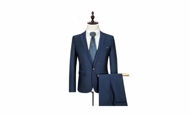 James Bond blue men's suit