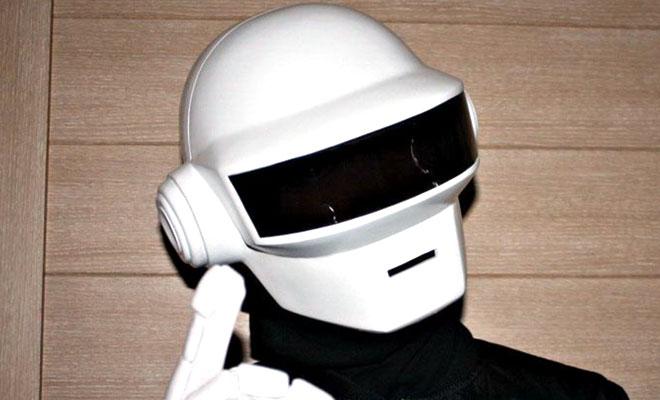 Daft Punk Helmet in white color