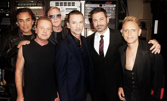 Depeche Mode Delivered A Performance On Jimmy Kimmel Live!