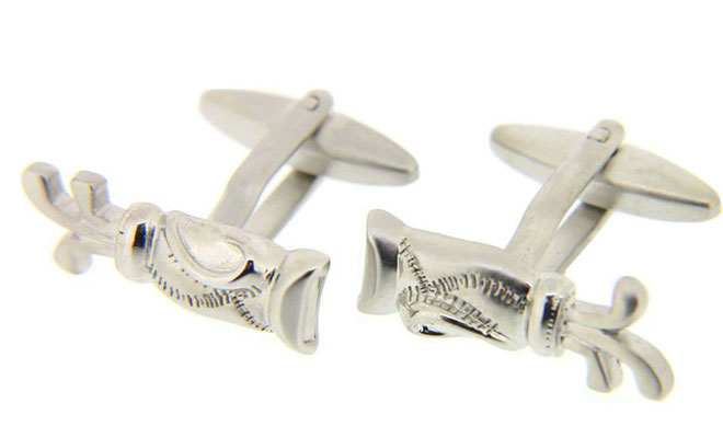Golf Bags Silver Colour Cufflinks