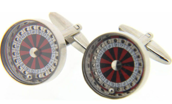 Roulette Wheel with Moving Parts Cufflinks