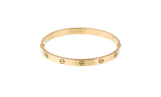 Cartier Love Yellow Gold Bangle Bracelet // Opulent Jewelers