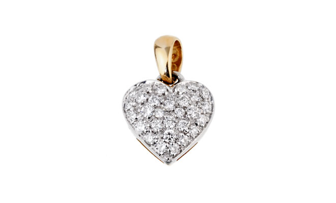 Chimento Gold Diamond Heart Pendant Necklace // Opulent Jewelers
