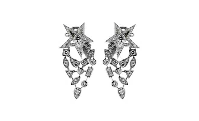 Chanel Comete Diamond White Gold Earrings // Opulent Jewelers