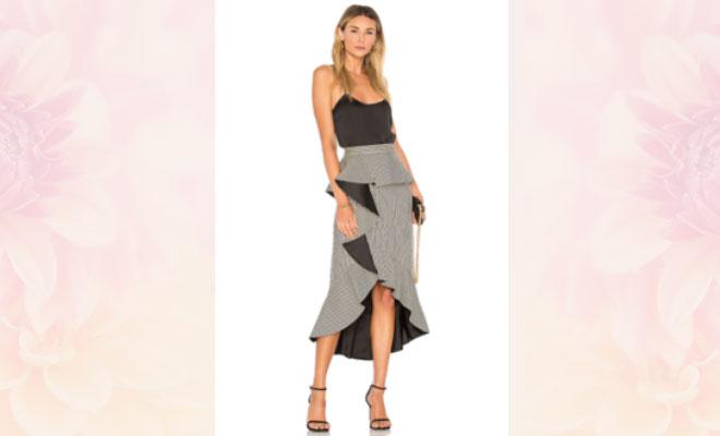 peplum ruffle skirt