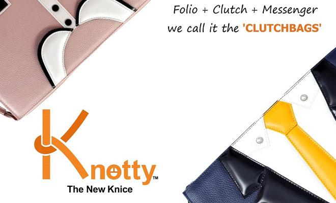 knotty clutchbag